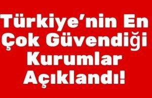 Türkiye'nin En Çok Güvendiği Kurumlar Açıklandı!