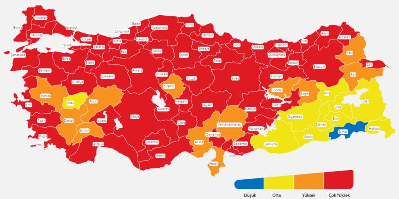 korona renk haritası
